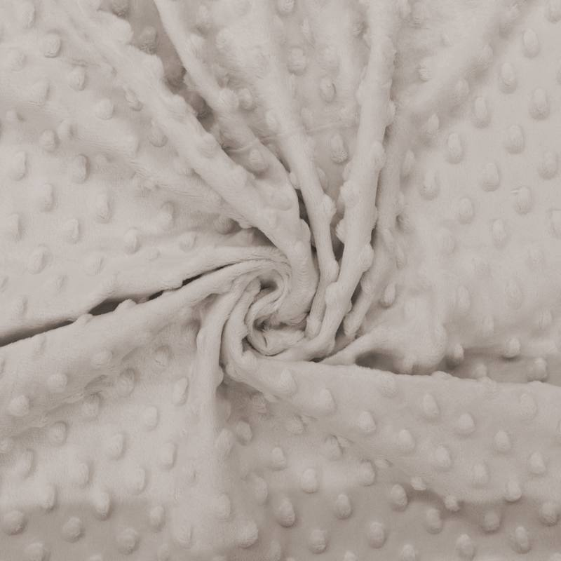 Minky uni taupe relief pois