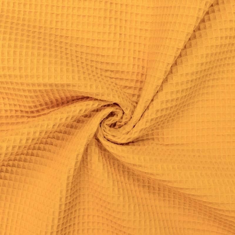 Tissu nid d'abeille ocre