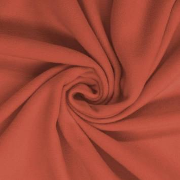 Polaire unie rouge vermillon