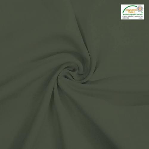Rouleau 28m burlington infroissable Oeko-tex vert kaki