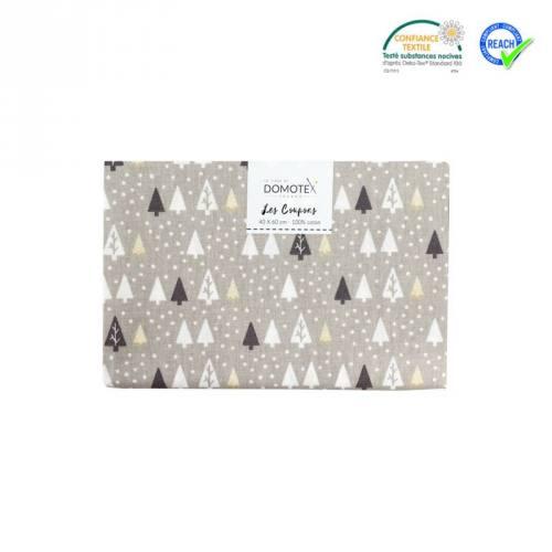 Coupon 40x60 cm coton gris sapin hikley