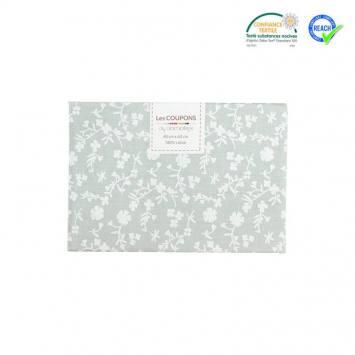 Coupon 40x60 cm coton gris motif margelie