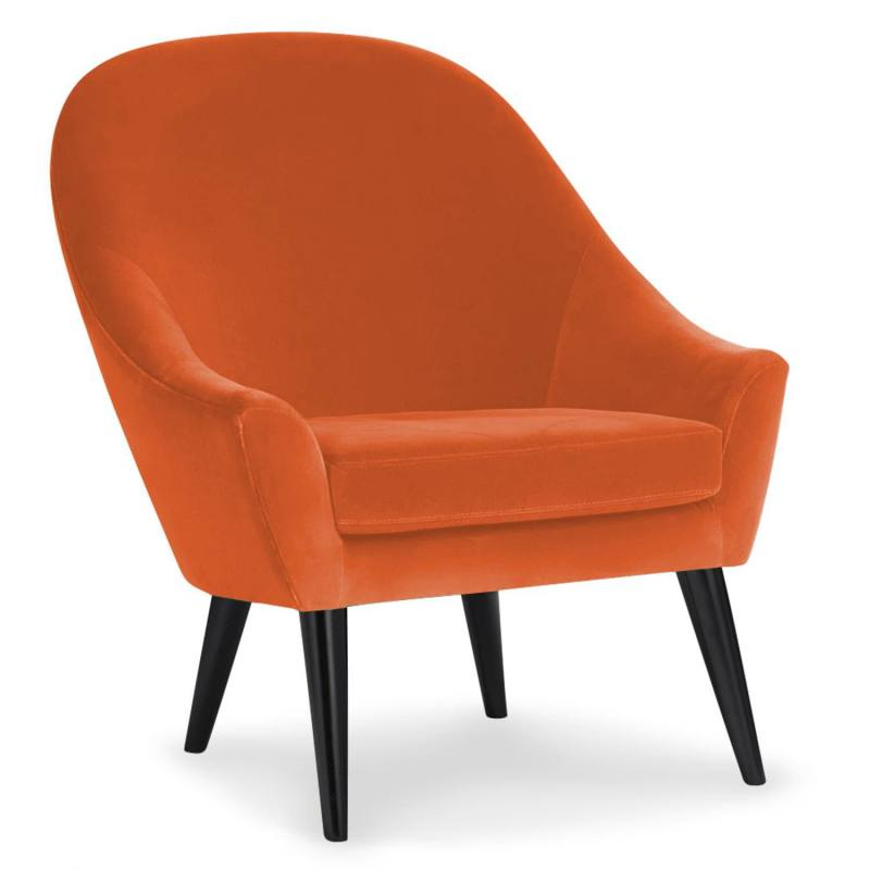 Velours uni orange 450 gr