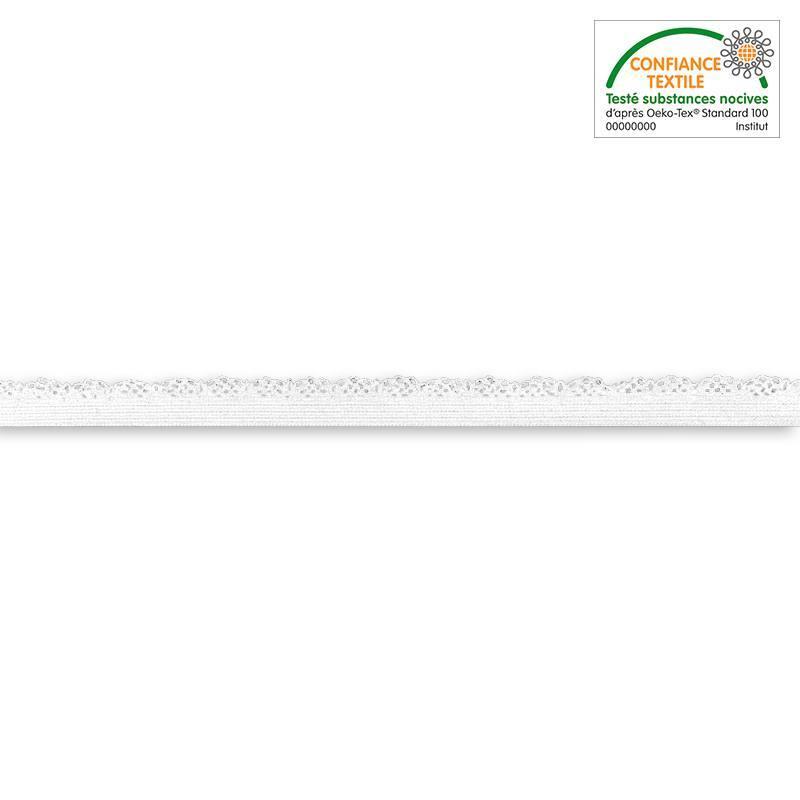 Bobine élastique dentelle lingerie blanche de 25 m