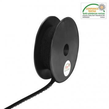 Bobine élastique dentelle lingerie noire de 25 m