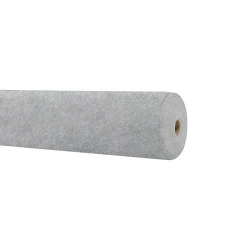 Rouleau 15m feutrine gris chiné clair 91cm