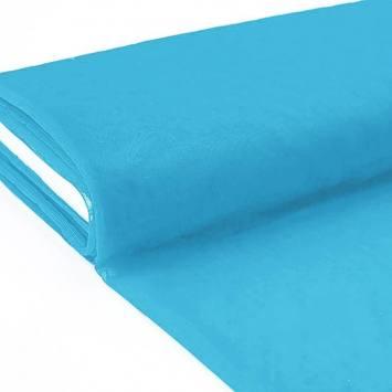 Plaquette 25m Tulle déco turquoise grande largeur