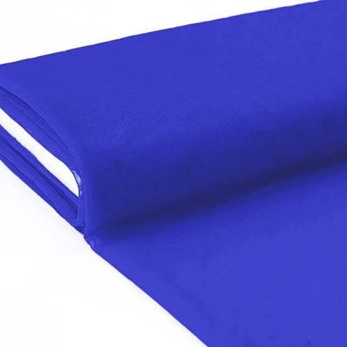 Plaquette 25m Tulle déco bleu roi grande largeur