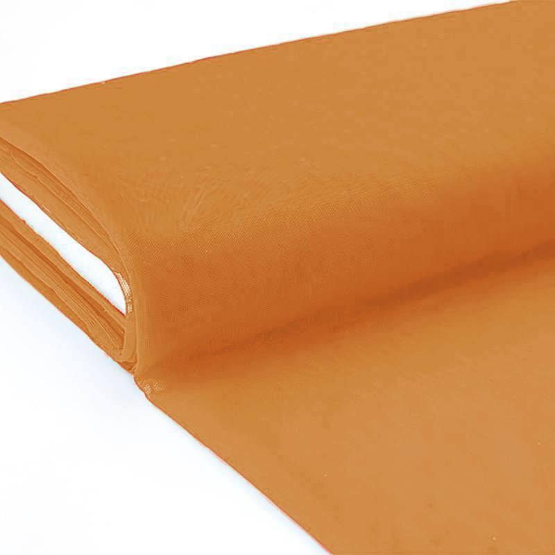 Plaquette 25m Tulle déco caramel grande largeur