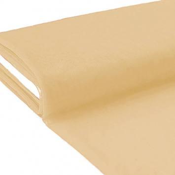 Plaquette 25m Tulle déco beige grande largeur