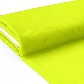 Plaquette 25m Tulle déco jaune fluo grande largeur