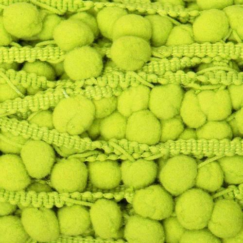 Galon pompon 15 mm vert