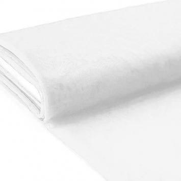 Plaquette 25m tulle uni blanc