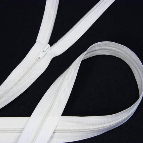 Fermeture à glissière au mètre blanche