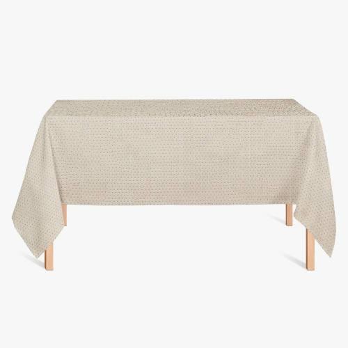 Coton enduit lin petit motif asanoha