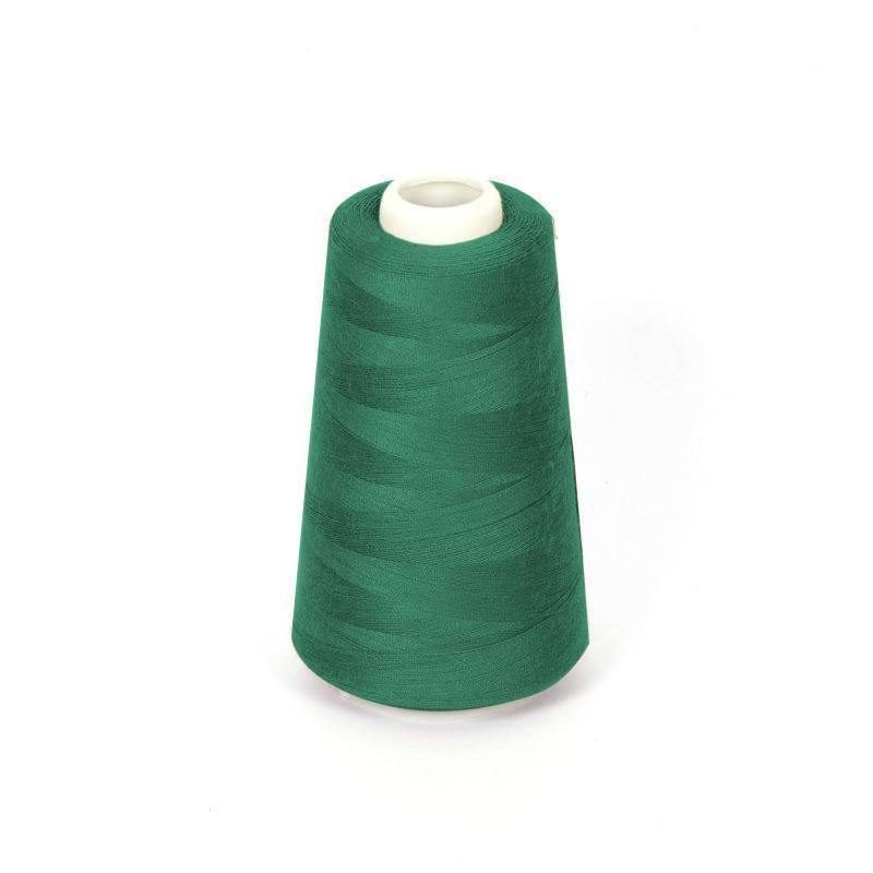 Cône de fil à surfiler et à coudre vert sapin