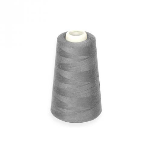 Cône de fil à surfiler et à coudre gris acier