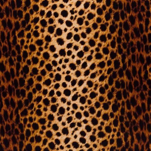 Velours ras imprimé guépard fauve