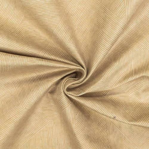 Velours ras rayures géométriques crème et beige foncé