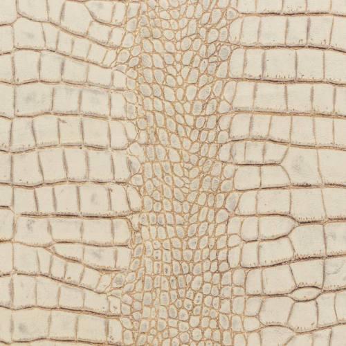 Velours ras imprimé alligator blanc