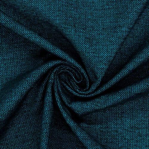 Jacquard tissage bicolore bleu azur et noir