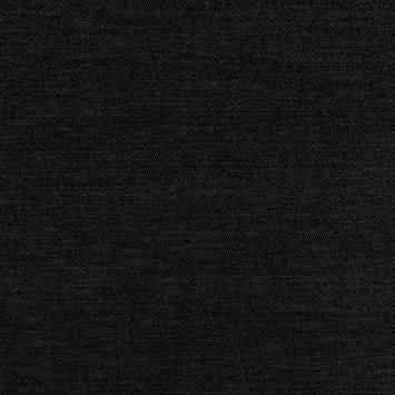 Jacquard tissage noir effet velours reflets vert foncé