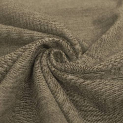 Jacquard tissage kaki clair effet velours reflets gris