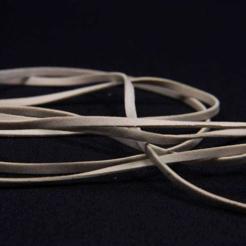 Lacet suédine 3 mm blanc