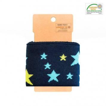 Bord-côte bleu marines à étoiles vertes et bleues