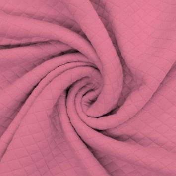 Jersey matelassé vieux rose