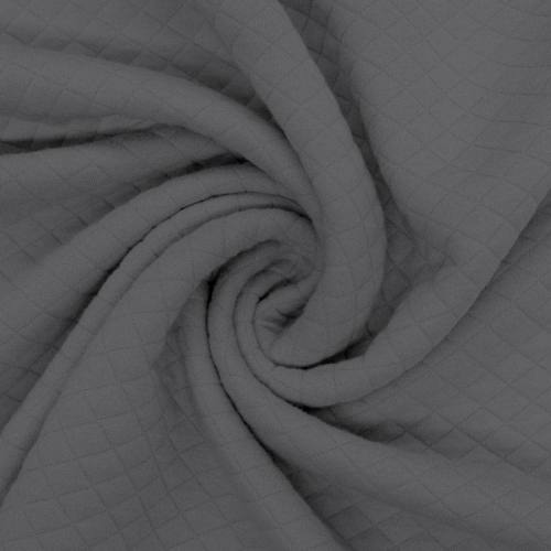 Jersey matelassé gris foncé