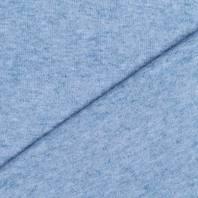 Tissu maille jersey bleu ciel