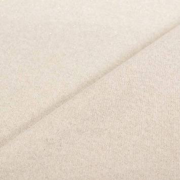 Tissu molleton french terry crème pailleté