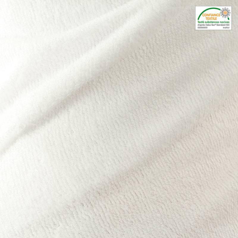 Tissu éponge bambou blanc