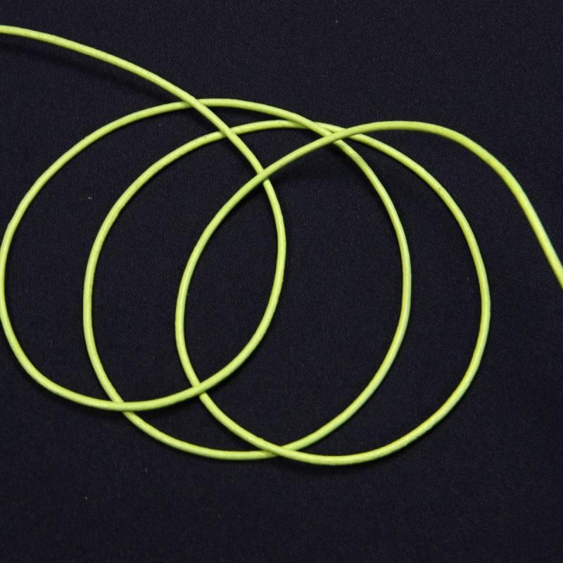 Cordon de cuir 2 mm vert