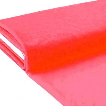 Plaquette 25m Tulle déco rose fluo grande largeur