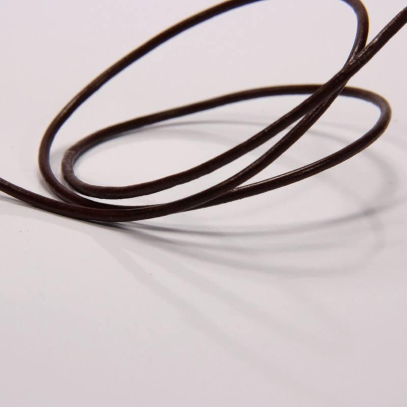 Cordon de cuir 2 mm chocolat