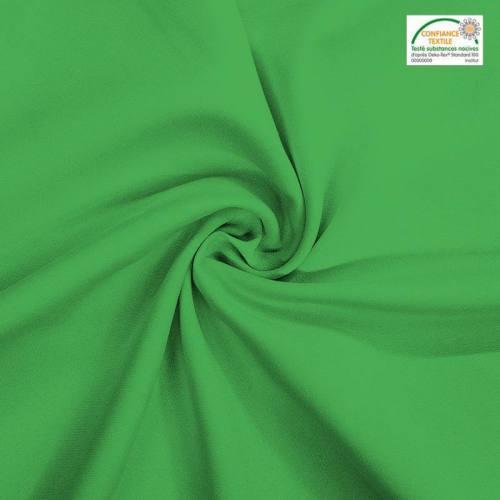 Rouleau 27m burlington infroissable Oeko-tex vert prairie