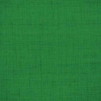 Coton aspect lin vert