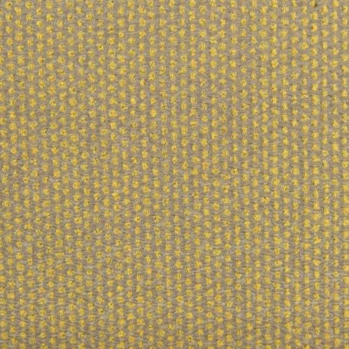 Jacquard mordoré pois relief jaune