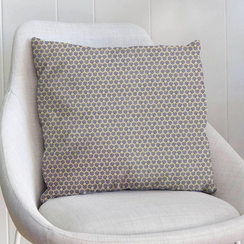 Coton gris motif trèfle
