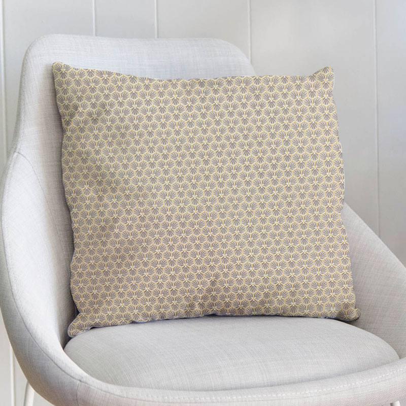 Coton grège motif trèfle