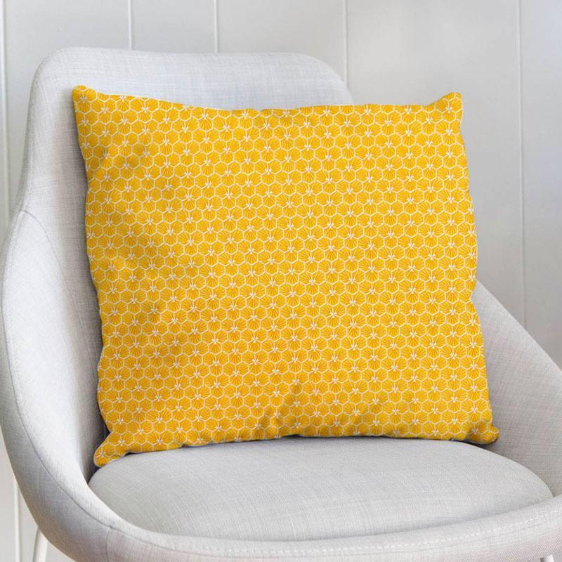 Coton jaune motif trèfle