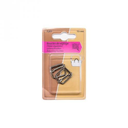 Boucles de réglage argent X2 15mm