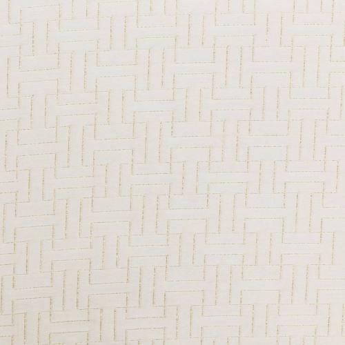 Jacquard grande largeur écru brodé fil doré