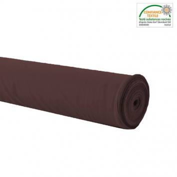 Rouleau 28m burlington infroissable Oeko-tex marron 280cm grande largeur