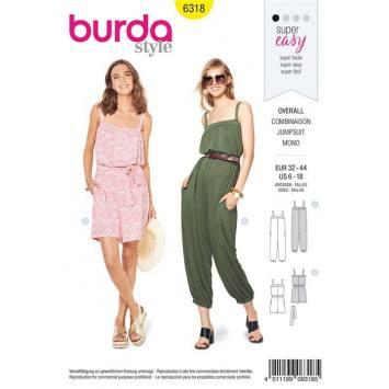 Patron Burda 6318 : Combinaison Taille : 32-44