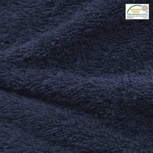 Tissu éponge bleu marine Oeko-tex