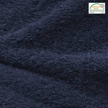 Tissu éponge bleu marine