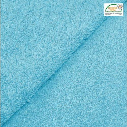Tissu éponge turquoise Oeko-tex